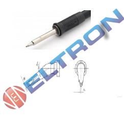 LTHX Ponta Redonda Curva 30º  0,8mm x 0,4mm x 18,0mm para  Ferro de Solda WP / WSP80
