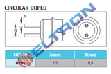 DR05 Bocal Circular Duplo 2,5mm para WHA900