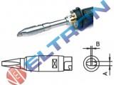 HTD Ponta Fenda Longa  4,6mm x 1mm para  Ferro de Solda LR82