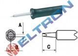 NT6BR Ponta de Fenda 1,6mm x 0,4mm X 7,4mm para Ferro de Solda WMPBR