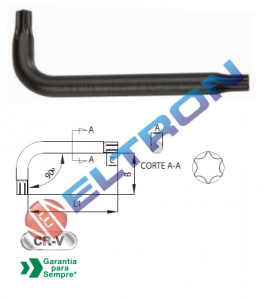 230007BR CHAVE TORX L T7