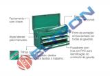 Caixa Tipo Gabinete  com 6 Gavetas - Metálica ST95106SC Sata